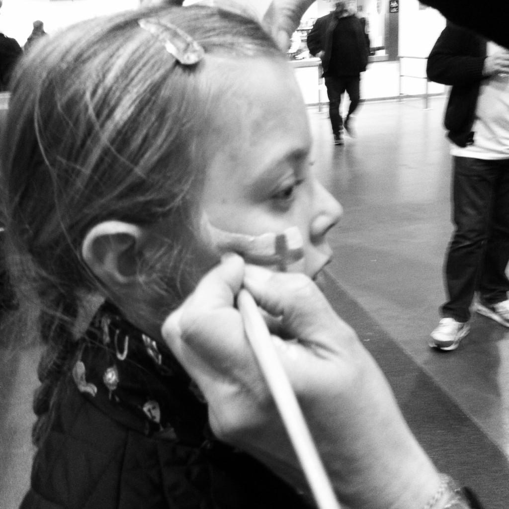 Face painting, England, Wembley Stadium, Football, Daughter