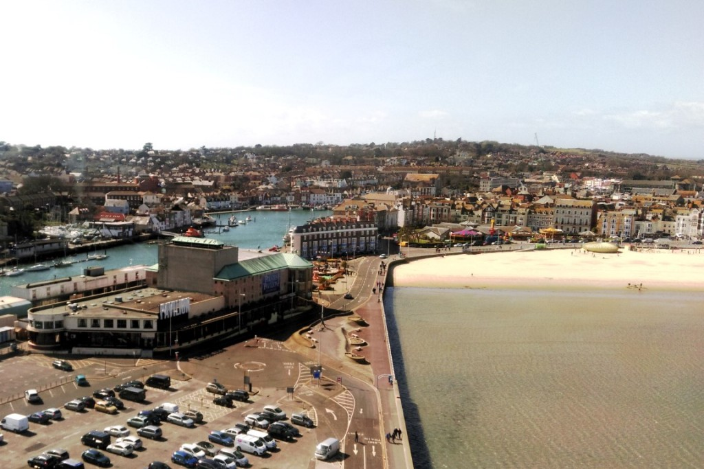 Weymouth from the Sea Life Tower