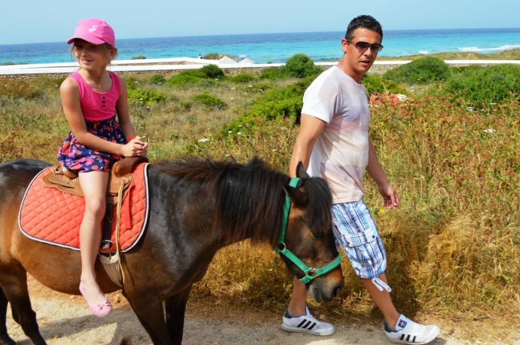 pony rides in Menorca
