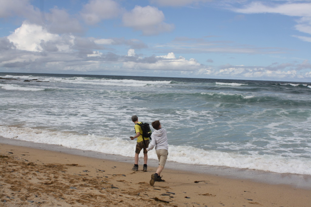 South West Coast Path, Boys, Beach, Cornwall