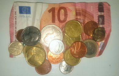 foriegn currency, loose change, money, saving for holidays