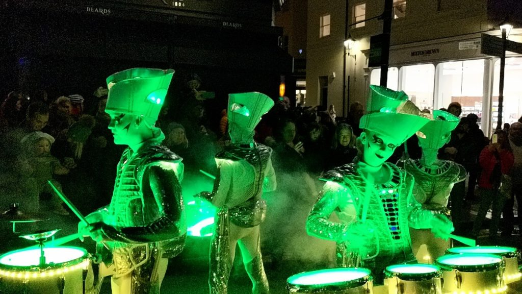 Spark! Drummers playing in Cheltenham