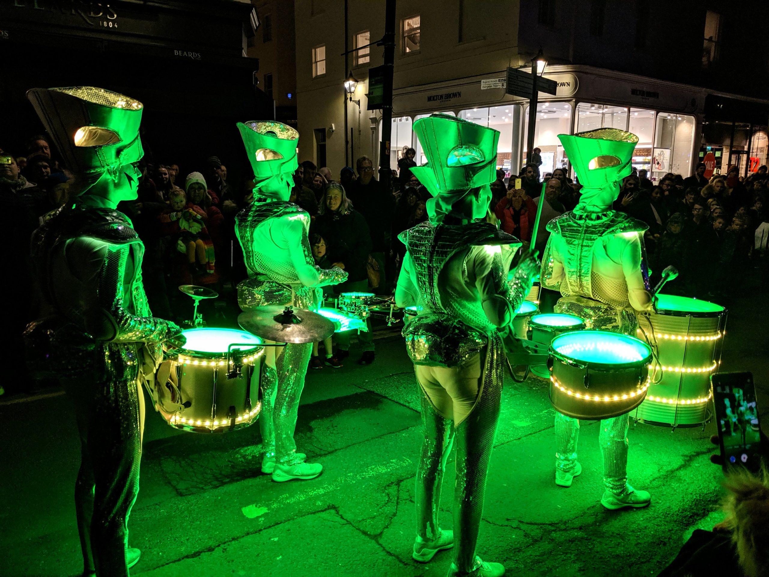 Spark! Drummers at Light Up Cheltenham