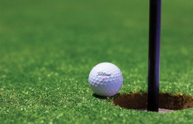 golf ball, golf ball on the green, golf green, golf courses in Gloucestershire